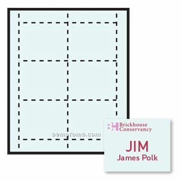 """Classic Name Tag Color Stock Paper Insert - 1 Color (4""""X3"""")"""
