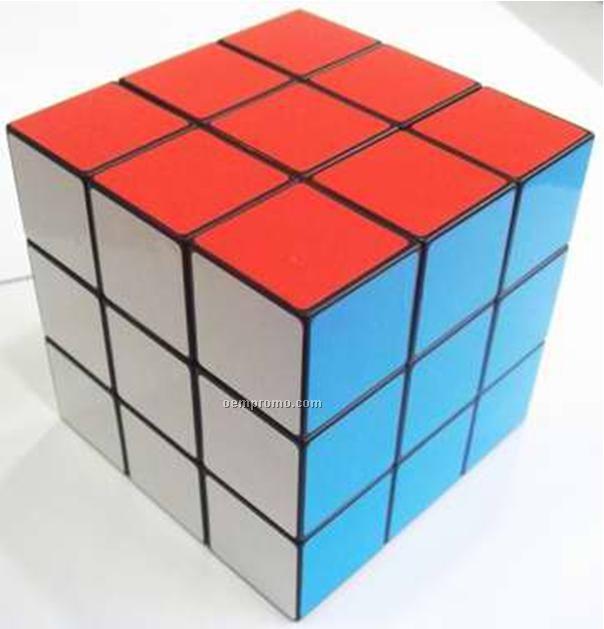 """Custom Print Puzzles Cube, 3 1/2"""", 4 Color Process"""