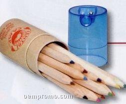 Dozen Rainbow Pencils W/ Sharpener