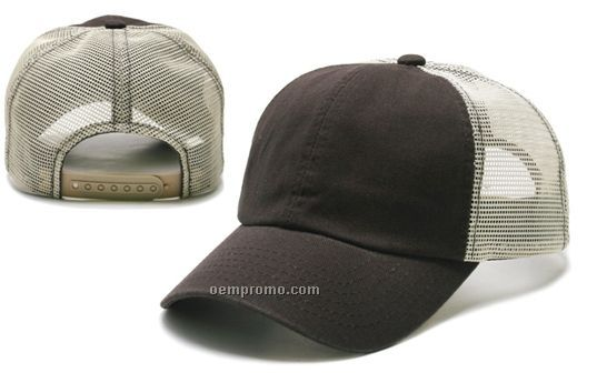 Earth Toned Washed Trucker Cap
