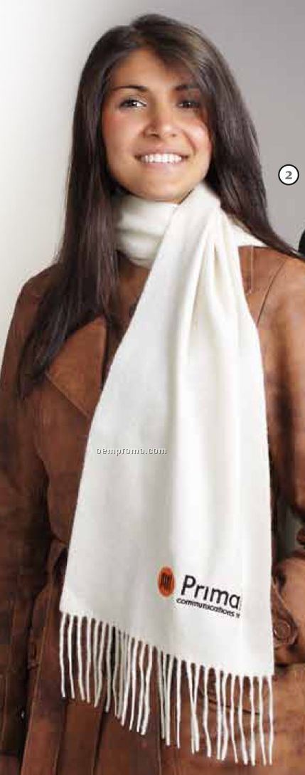 Ivory 100% Pure Cashmere Scarf