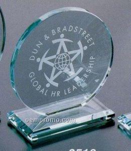 "Jade Gallery Crystal Cromwell Circle Award (6"")"