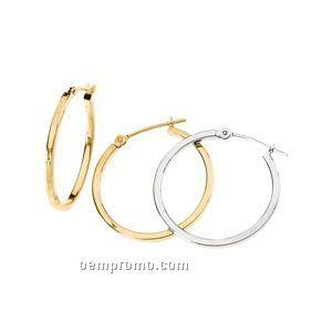 Ladies' 14ky 24-3/4mm Square Tube Hoop Earring
