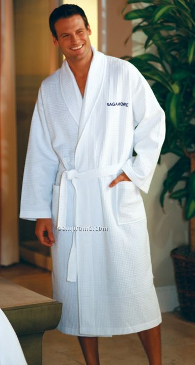 Seville Collection Waffle Robe - Embroidered 3 Day Proship