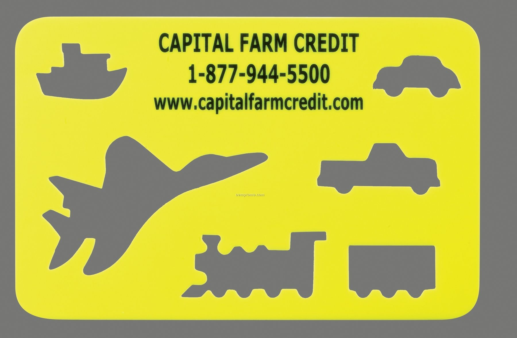 Stock Transportation Stencil With Vehicle Cutouts - 1 Color