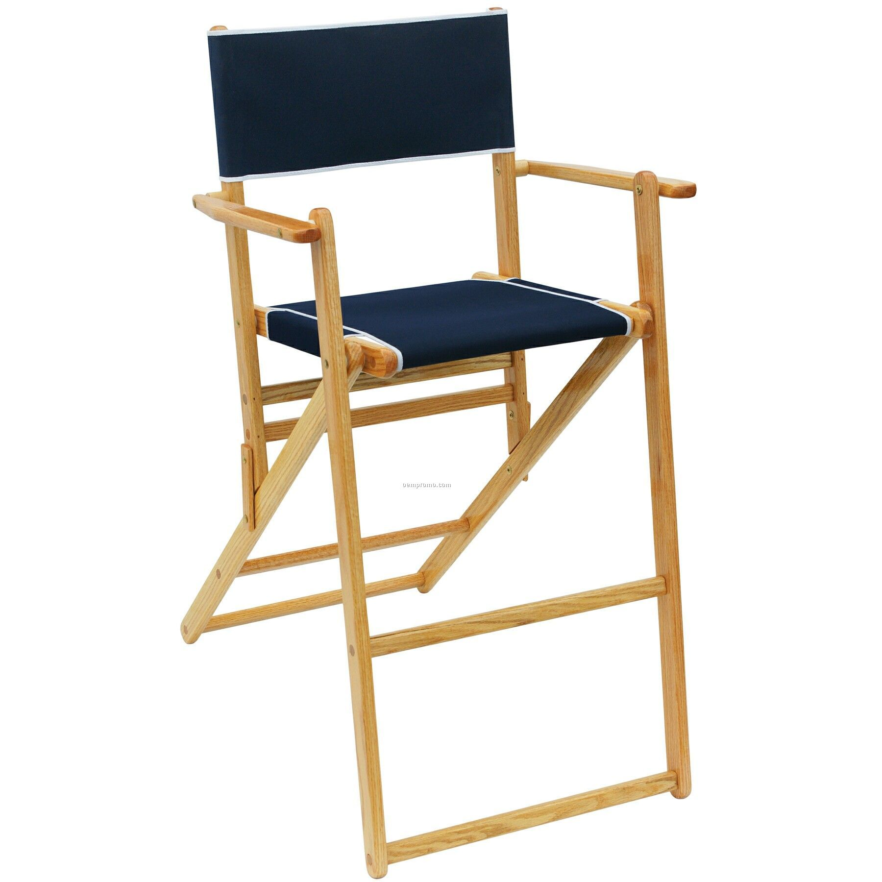 Us Made Deluxe Folding Solid Oak Hardwood Frame Tall Deck Chair