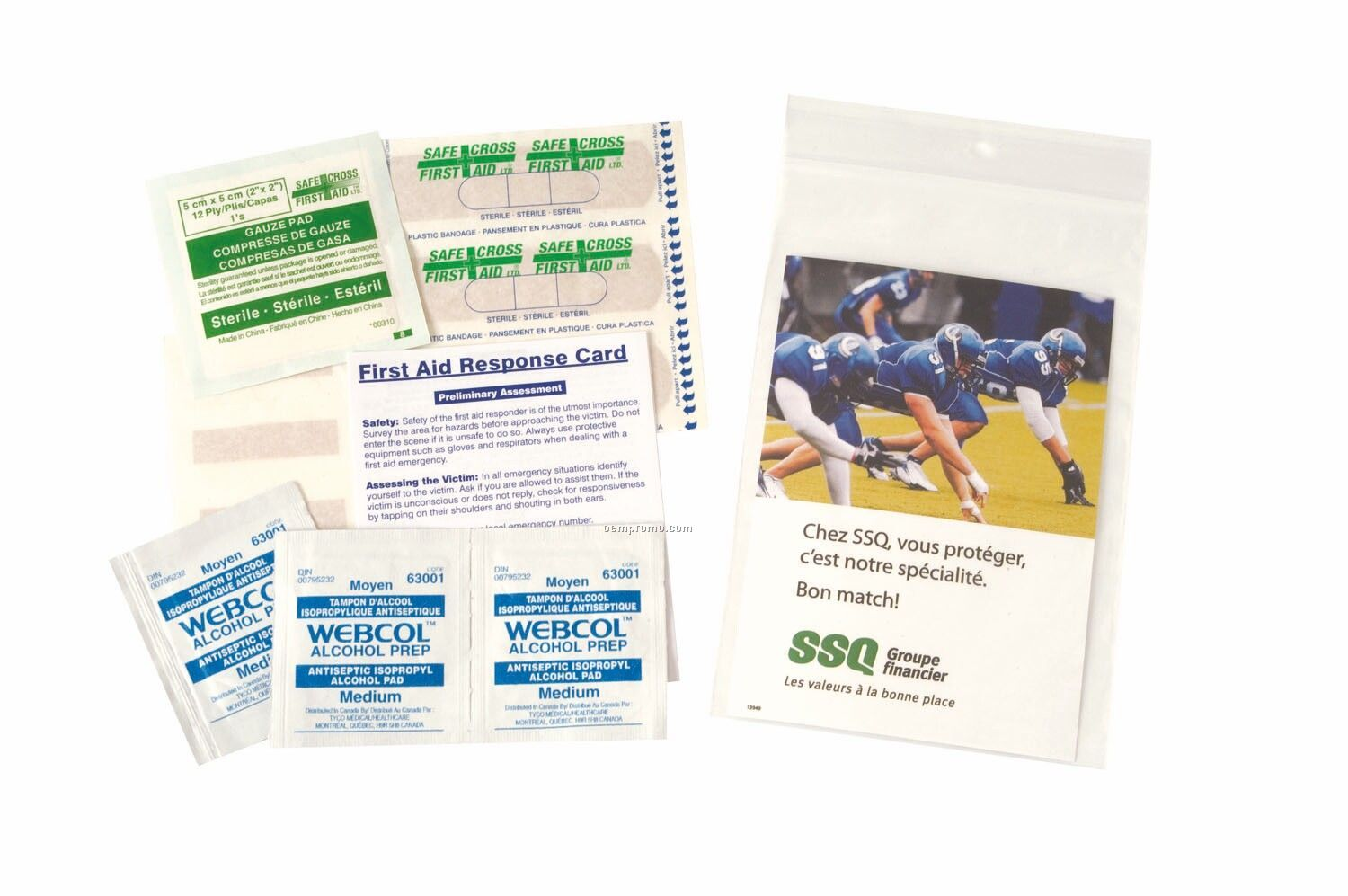 15 Piece First Aid Kit (Imprinted)