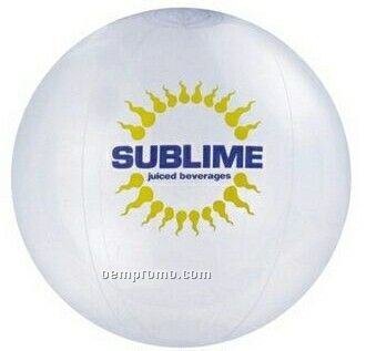 "16"" Inflatable Clear Beach Ball"