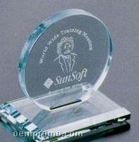 "Jade Gallery Crystal Cromwell Circle Award (4"")"