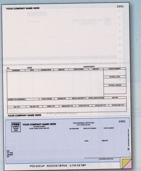 Laser Payroll Check - Daceasy Compatible (3 Part)