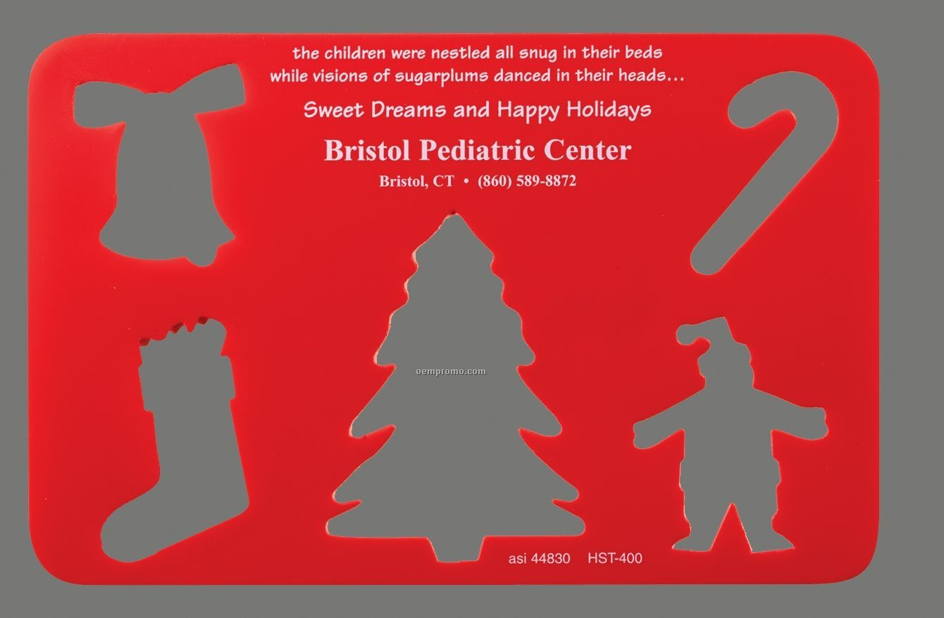 Stock Holiday Stencil With Christmas Cutouts - 1 Color