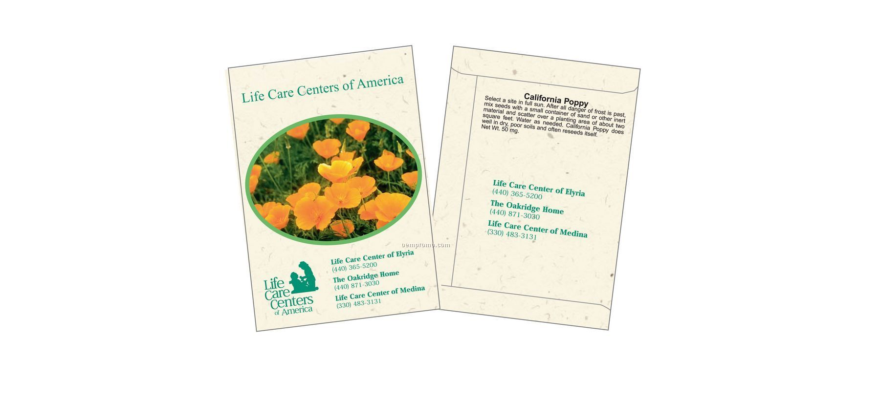 California Poppy Flower Seed Packet (1 Color)