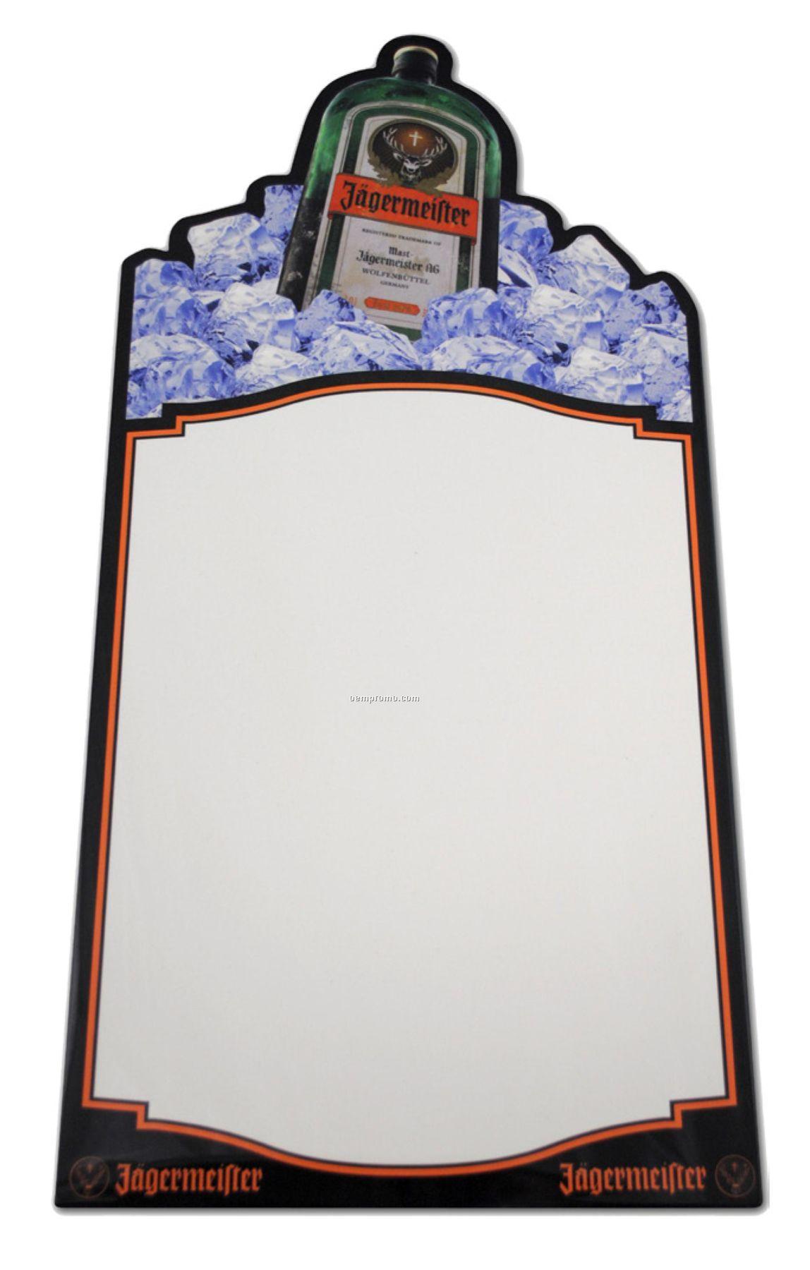 "Custom Cut Aluminum Dry Erase Boards 12"" X 24"" Blank"