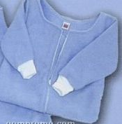 Jersey Sweatshirt Fleece Baby Snuggle Sack With Zipper And Sleeves