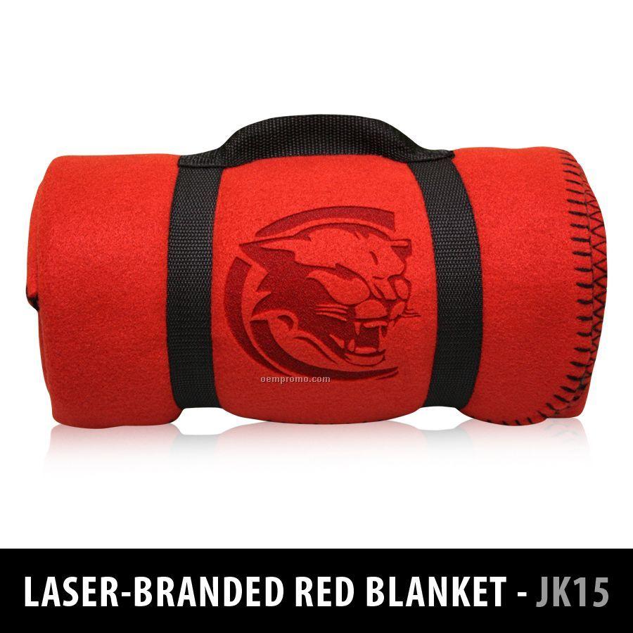 15 Oz. Winter-tec Fleece Blanket - Laser-branded