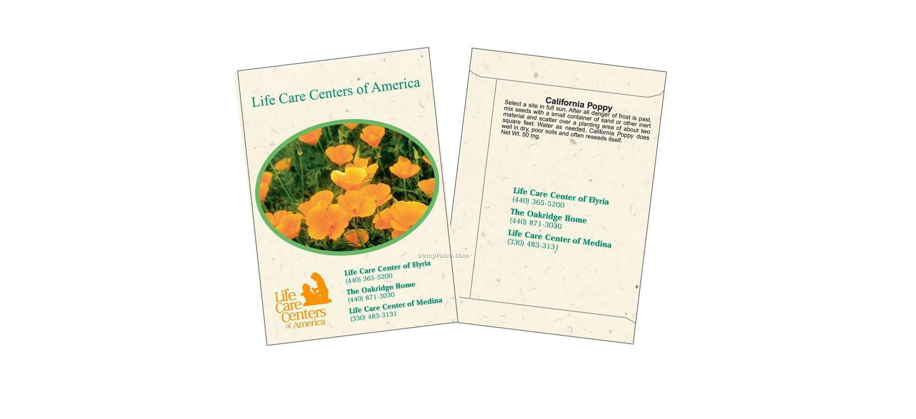 California Poppy Flower Seed Packet (2 Color)