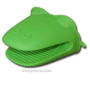 Hippo Shaped Silicone Oven Mitt