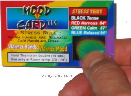Mood Card, Liquid Crystal Testers, Stress Card