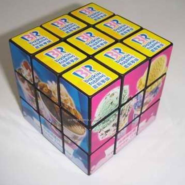 """Custom Print Puzzles Cube, 2 3/8"""", 5 Color Process"""
