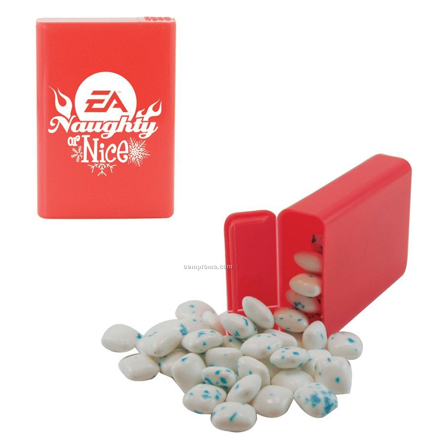 Red Refillable Plastic Mint/ Candy Dispenser With Sugar Free Gum