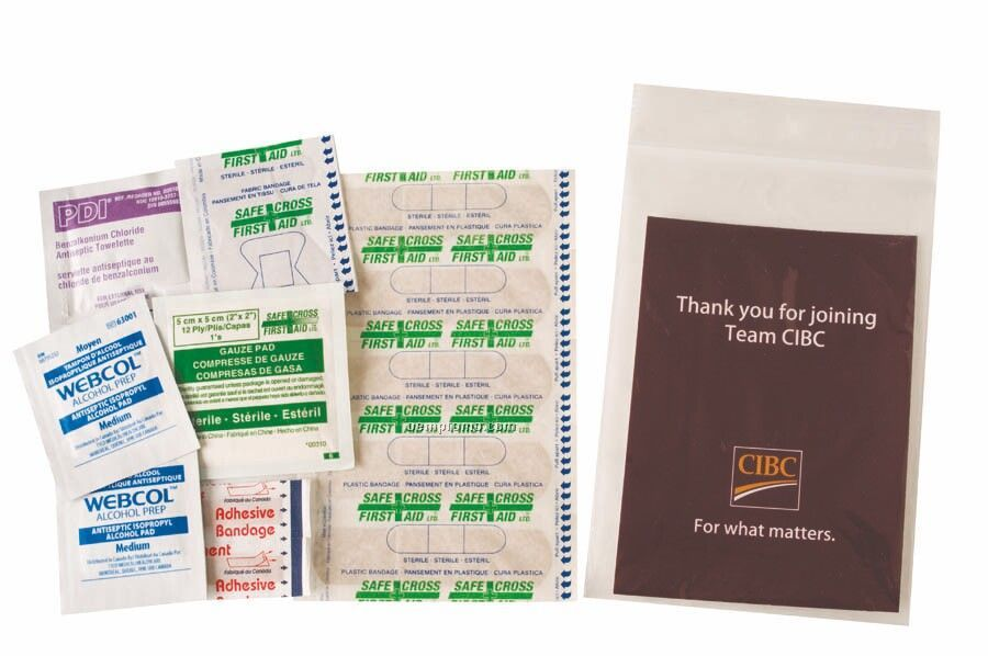25 Pc. First Aid Kit (Blank)