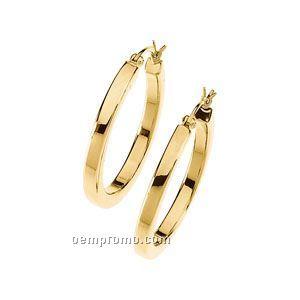 Ladies' 14ky 40-3/4mm Concave Hoop Earring