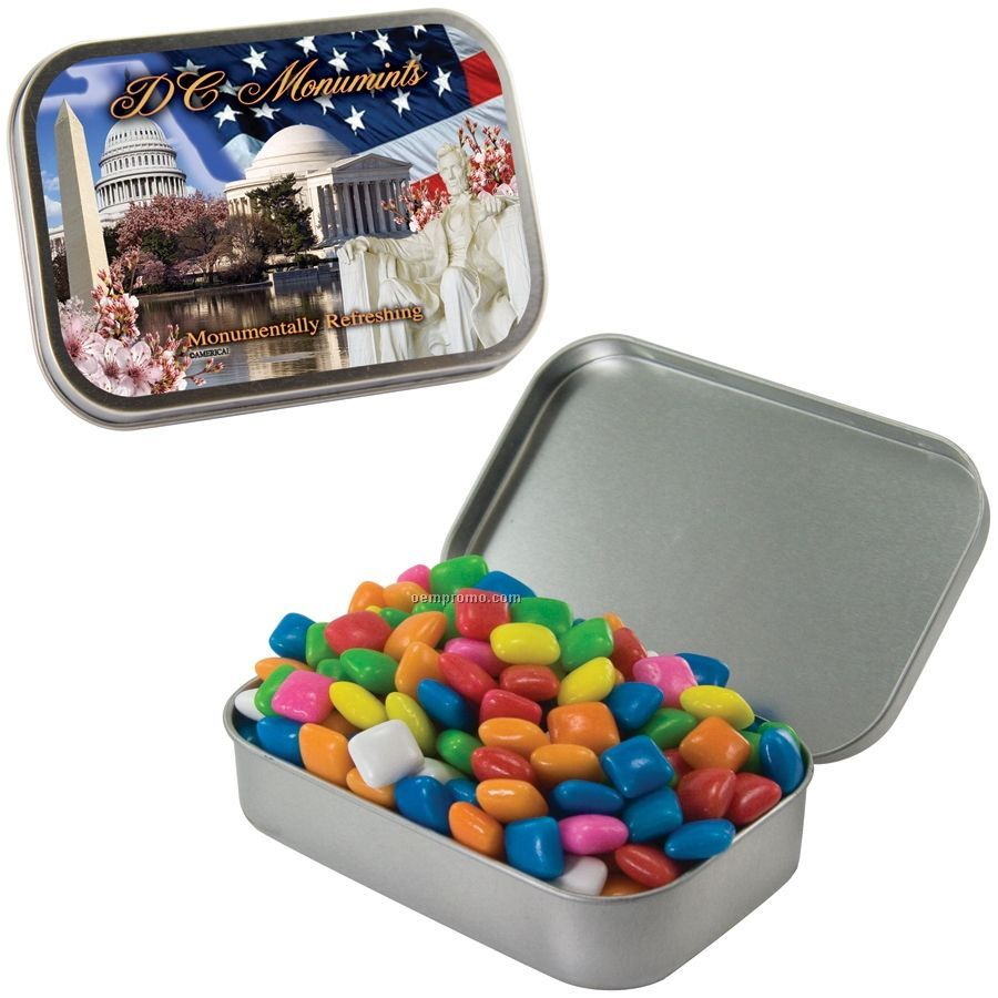 Large Silver Mint Tin With Gum