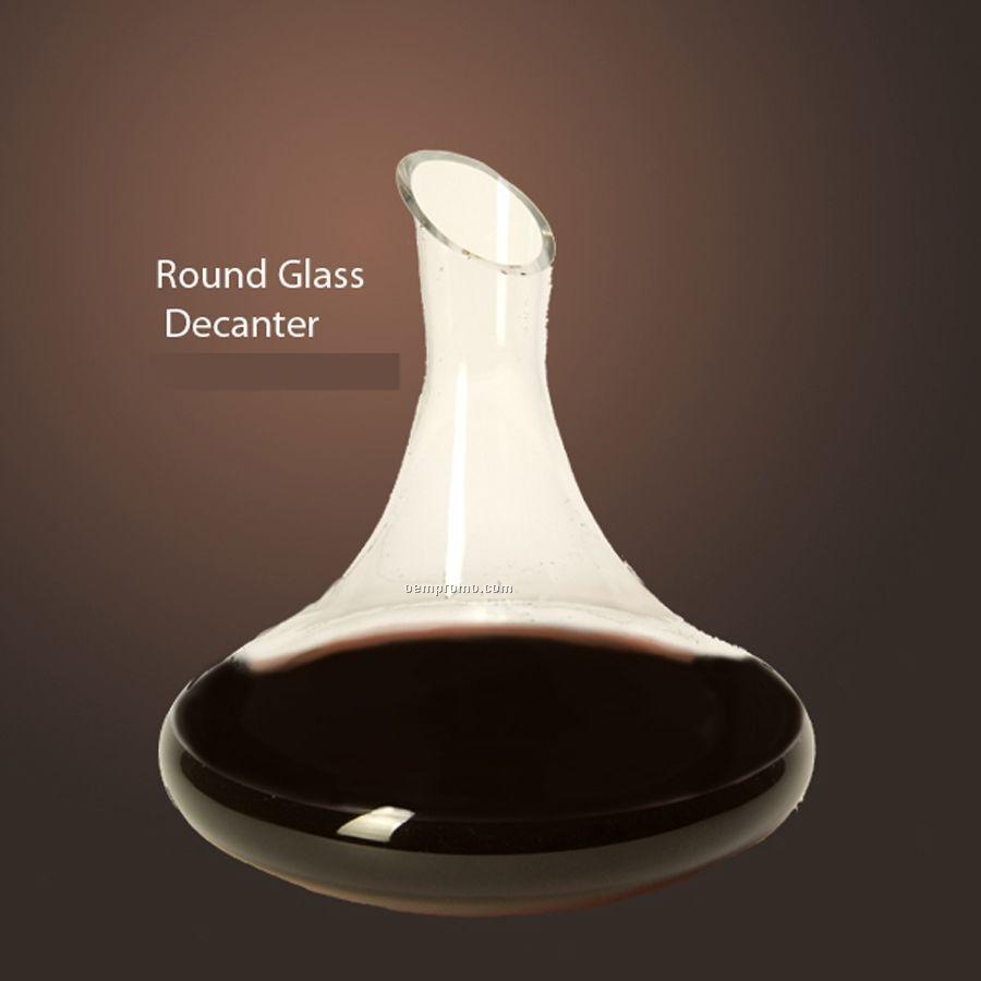 Round Glass Wine Decanter