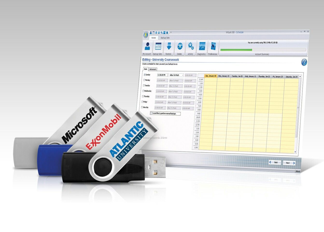 Doubledata USB Drive And Online Data Storage