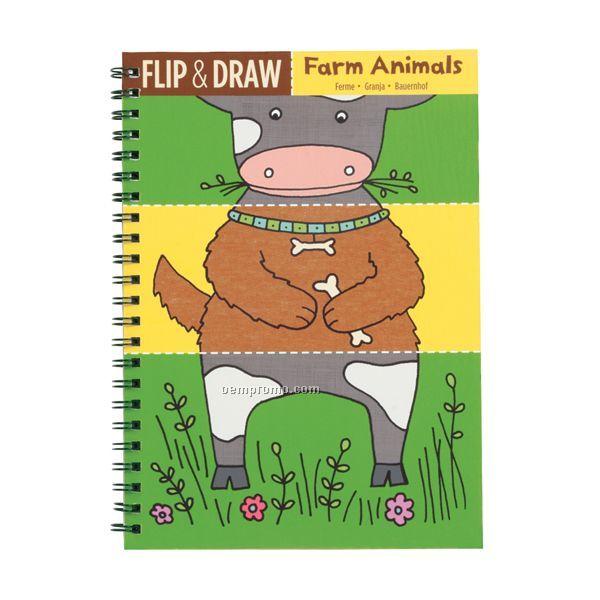 Farm Animals Flip & Draw