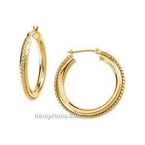 Ladies' 14ky 37-1/4mm Hoop Earring