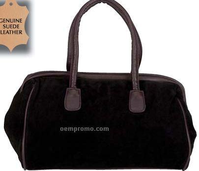 Maxam Solid Genuine Suede Leather Handbag