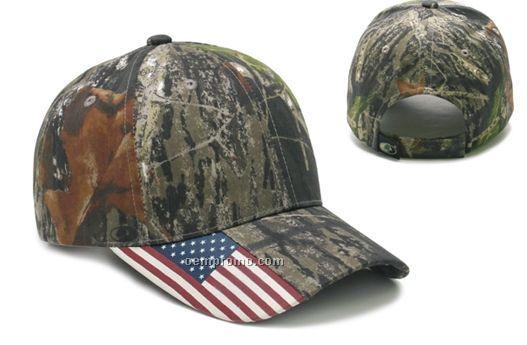 Mossy Oak Us Flag Cap