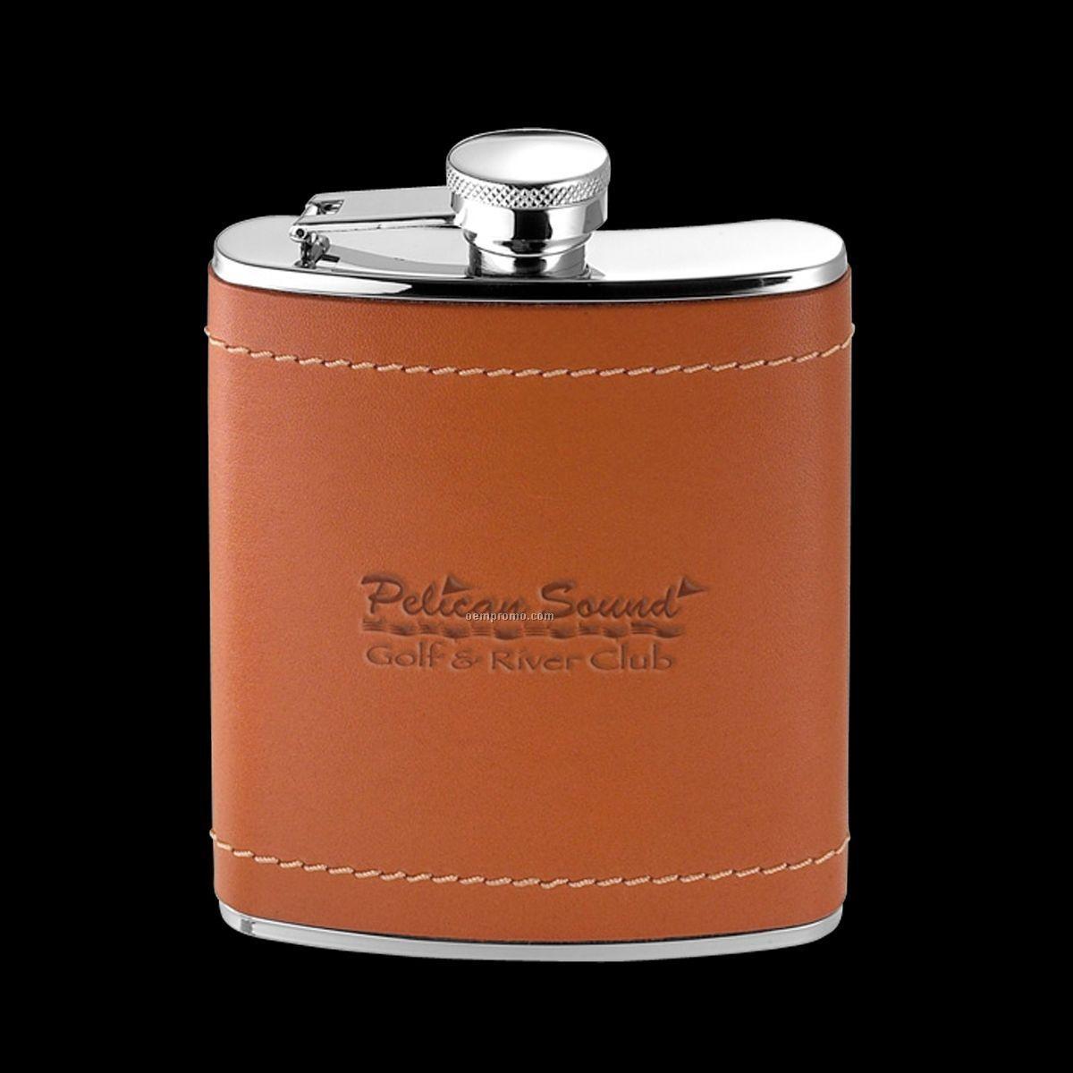 Osborne Leather/ Stainless Steel Hip Flask