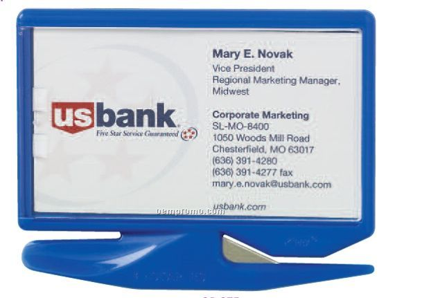 Business Card Zippy Letter Opener W/ Staple Remover And Magnet (Blank)