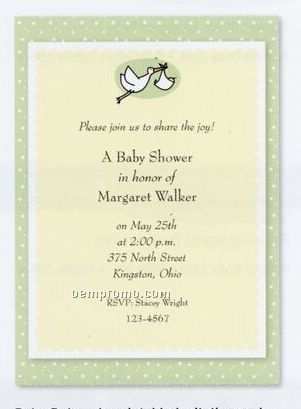 Deluxe Imprintable Invitation & Announcement Kit - Baby Deluxe