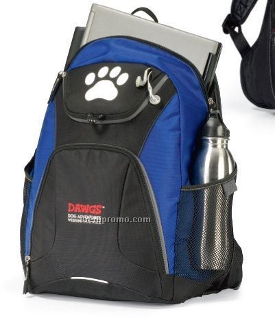 Quest Computer Backpack W/ Padded Shoulder Strap /Royal Blue