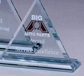 "Jade Gallery Crystal Princeton Triangle Award (6"")"