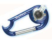 Light Up Carabiner W/ Bottle Opener & White LED - Blue