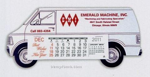 Long Van Standard Truck Calendar (By 05/01/11)