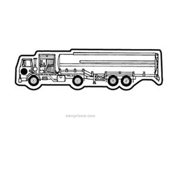 Stock Shape Collection Tanker Truck 4 Key Tag