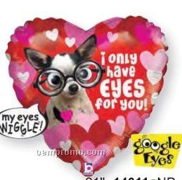"21"" Eyes For You Google Eye Heart Balloon"