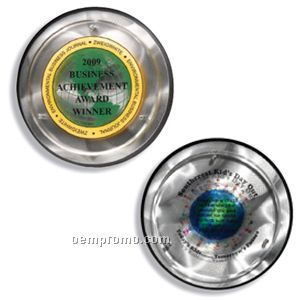 Decorative Round Alumo-tech Plaque (9''x1'') (4 Color Process)