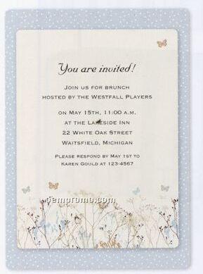 Deluxe Imprintable Invitation Kit ButterfliesChina Wholesale