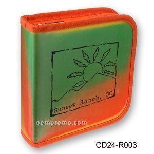 3d Lenticular CD Wallet/ Case W/Orange Trim 24 Cd's ( Stock)