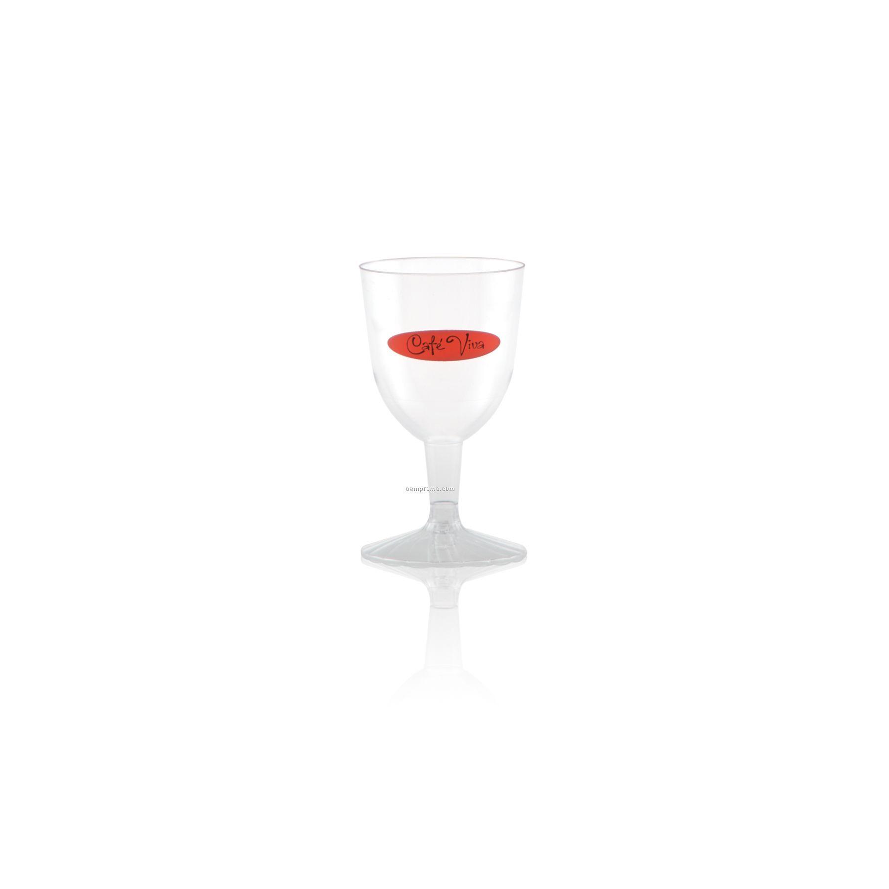 5 Oz. Clear Plastic Wine Goblet Stemware