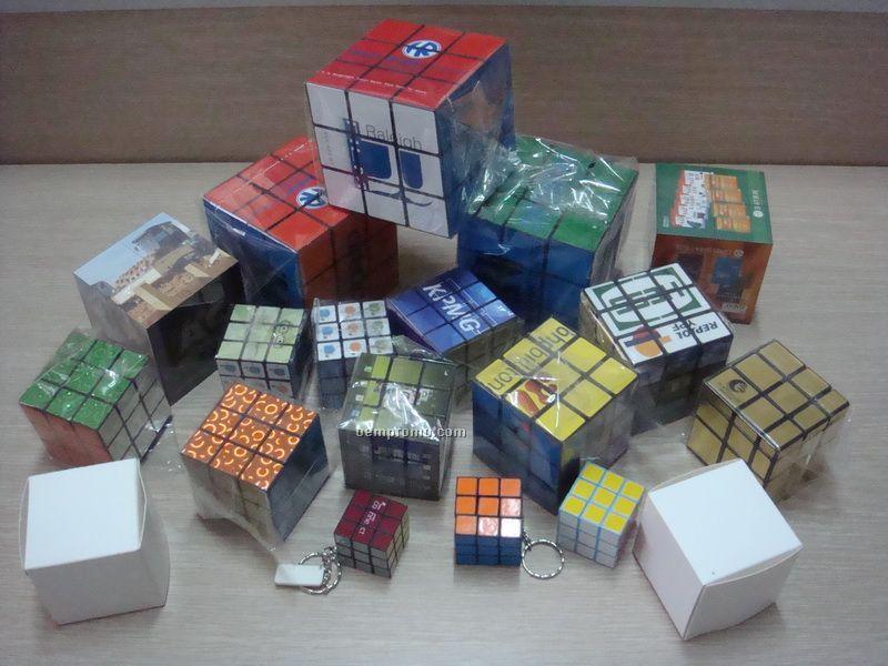 "Custom Print Puzzle Cube,4 Color Process,3.35"""