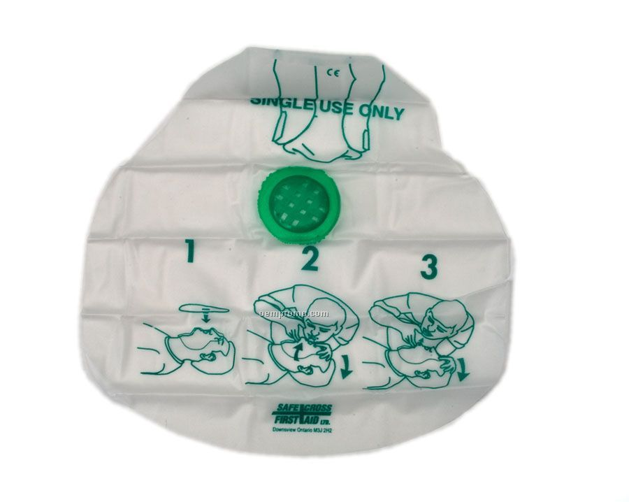 Disposable Cpr Respirator Face Shield (Blank Only)