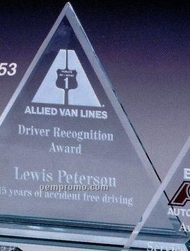 "Jade Gallery Crystal Princeton Triangle Award (9"")"