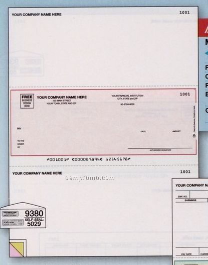 Laser Multipurpose Check - Peachtree Compatible (3 Part)